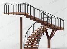 3D楼梯模型  漂亮的室内楼梯模型高品质 3D模型下载