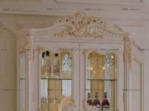 3D柜子模型  雕花模型柜子 欧式雕花白色酒柜3D模型高品质 3D模型下载