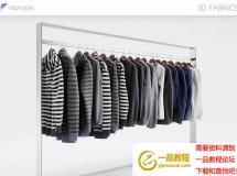 3D衣服模型  长袖T恤衫衣服模型 高品质 3D模型下载
