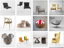 24个高精度时尚椅子模型集合