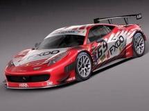法拉利458 GT3赛车3D模型 高品质模型