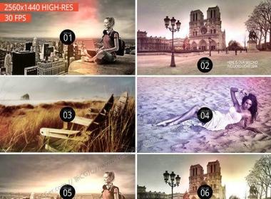 2K级共12例高品质的镜头漏光光效视频素材包