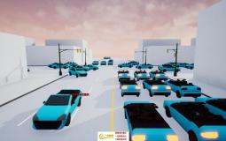 卡通场景交通系统UE4游戏素材资源