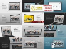 在智能设备上对网站或应用进行演示的场景样机AE模板