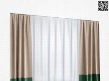 简洁的窗帘舒服 2018新款 高品质3D模型