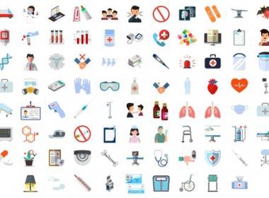 医疗图标ICON动画 100 Medical Elements