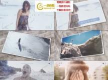 模拟相机对焦和快门拍照的视频展示AE模板
