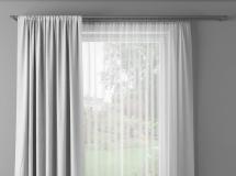 3D窗帘模型 白色纱窗3Dmax模型