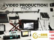 C4D模型下载 C4D/E3D 影视3D模型 The Pixel Lab – Video Production Pack