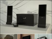 电视播放器与音箱系列3D模型?