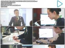 业务办理银行窗口打字输入资料工作人员处理事务高清视频实 ...