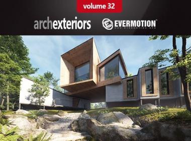 Evermotion – Archexteriors Vol. 32森林别墅建筑场景3D模型(3DS MAX格式)