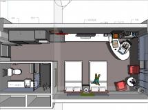 酒店标准房室内-7M草图大师su模型