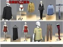 100个非常详细的充分质感的3D各件衣服和鞋子模型下载