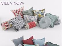 3D软包模型 北欧时尚抱枕组合