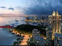 漂亮的夜景城市鸟瞰动画源文件下载