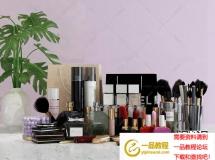 3D卫浴模型  现代口红模型 香水化妆品组合高品质 3D模型下载