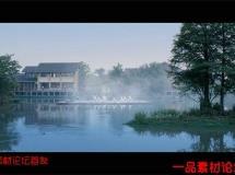 湖上晨练高清实拍视频素材1080P