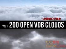 体积云模型素材 Open VDB Clouds Vol.1