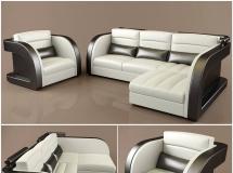 3D沙发模型 现代办公沙发组合3D模型素材