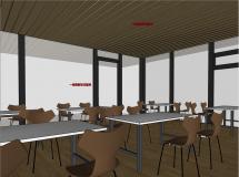 湖边餐厅空间-7M草图大师su模型