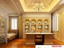 3D书房模型  欧式书房3D效果图下载