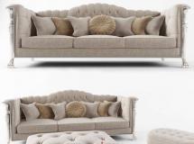 3D沙发模型  欧式组合沙发模型3D模型素材下载