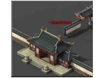 古代民居房屋模型
