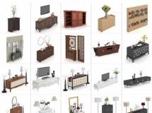 100个精品柜子模型-一品素材单体家具模型库下载