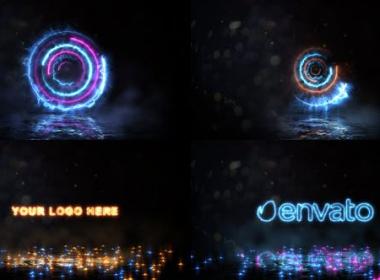 能量旋转Logo动画 Spinning Energy Logo