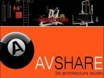 avshare–运动配件和台球桌3D模型下载