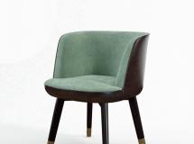 3D椅子模型  现代布艺单椅3D模型下载