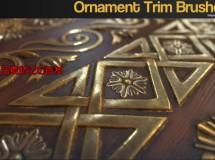 Gumroad – ZBrush 60 Ornament Trim Brushes Vol.1