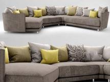 多人沙发组合模型 ROLF BENZ沙发3D模型