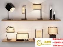 3D台灯模型  新中式灯具模型下载