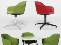 3D办公桌椅   现代办公室休闲椅模型下载