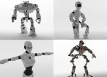 6 Turbosquid Robots Collection