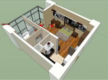 新版作品,含参数室内模型-48M草图大师su模型
