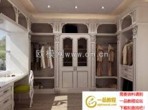 转的一套欧式衣柜、衣帽间模型 高质量3D模型