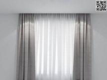 卧室窗户窗帘2018新款 高品质3D模型