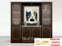 3D酒柜模型  新中式酒柜模型  下载
