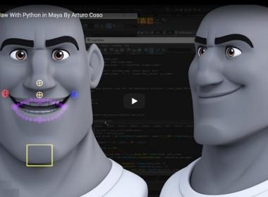 Maya绑定动画教程 Rigging The Jaw with Python in Maya