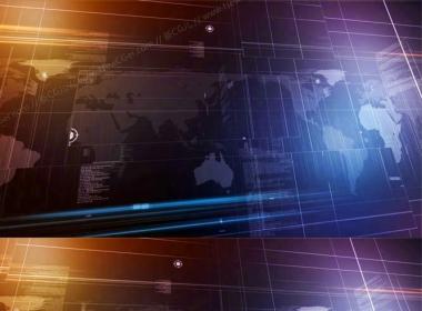 跨越世界地图的商务/财经/新闻背景循环素材