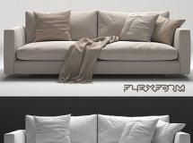 3DSKY双人布艺沙发模型 flexform magnum