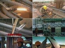 盖楼施工电焊塔吊高清实拍视频素材1080P