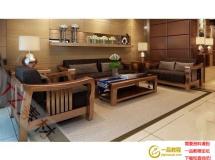 3D沙发模型 东南亚现代中式实木沙发
