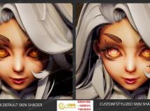 华丽女性角色头发眼睛金属PBR材质UE4游戏素材资源