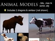 一套MAX动物模型集合包含了3DS格式