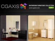 CGAxis浴室家具系列VOL.2 - 3D浴室家具及配件的模型的集合。厕所,坐浴盆,橱柜,水槽 ...