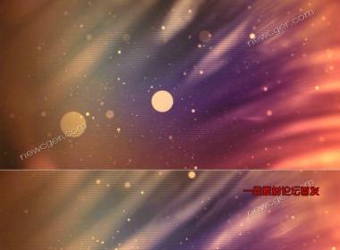 梦幻的粒子光斑动态背景循环素材